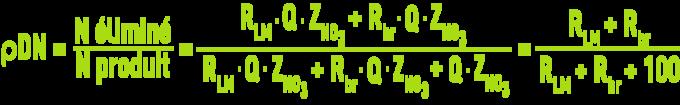 Cultures libres - Réacteur biologique, rendement de dénitrification
