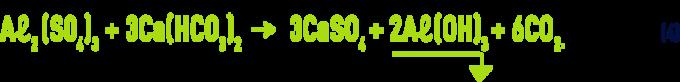 Formule : sels d'aluminium - pouvoir tampon de l'eau exemple du sulfate