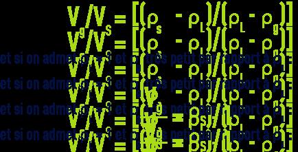 Formule : volume minimal gaz pour flottation
