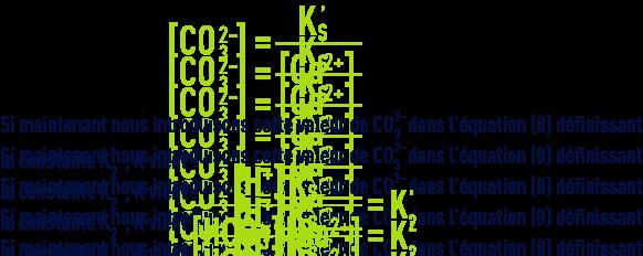 Formule : pHS - équilibre calcocarbonique