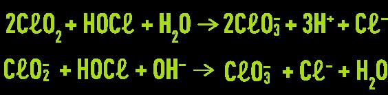 Formule : chlore sous forme acide hypochloreux oxydation
