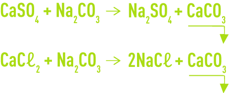 Formule : élimination de la dureté -emploi carbonate sodium