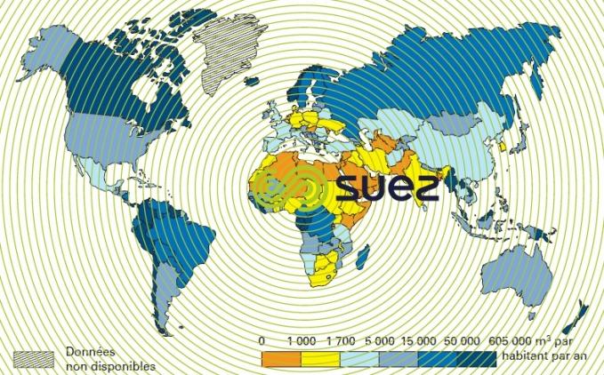Eau Douce année 2000 - flux fleuves renouvellement eaux souterraines