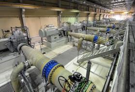 usine dessalement osmose inverse Al Dur - turbine Pelton
