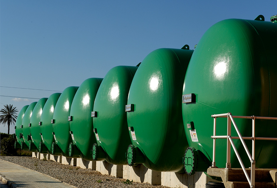 usine de dessalement osmose inverse Bahia de Palma
