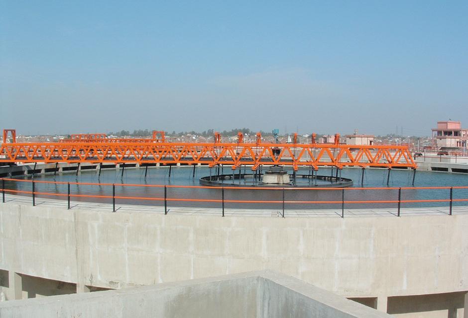 usine de production d'eau potable Sonia Vihar à New Delhi