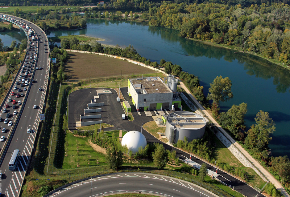 station épuration eaux usées La Feyssine France