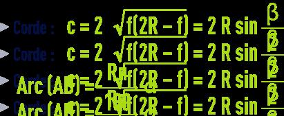 formule : formules géométrie - corde