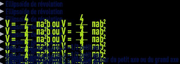 formule : formules géométrie - ellipsoïde de révolution