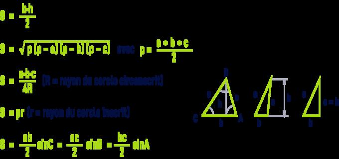 formule : formules géométrie - triangle