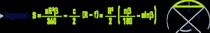 formule : formules géométrie - segment