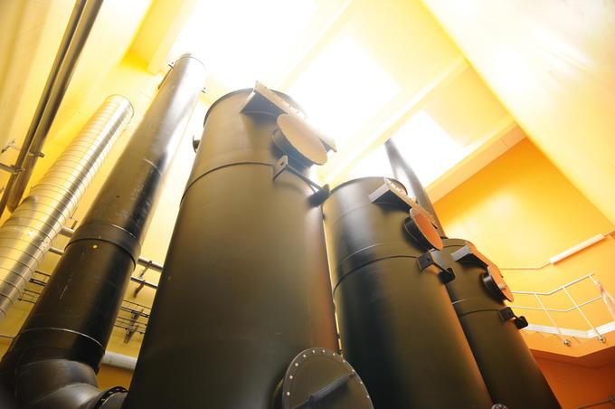 Station de traitement des eaux usées - Tour de désodorisation