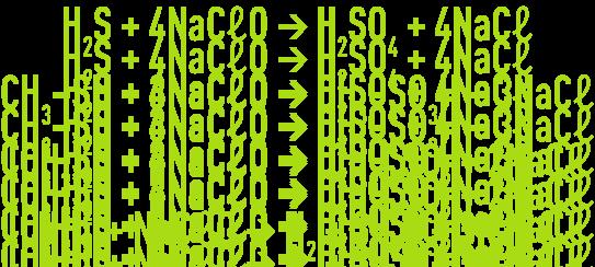 Formule : la désodorisation - lavage oxydant à l'hypochlorite de sodium