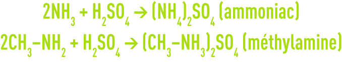 formule : la désodorisation - lavage à l'acide sulfurique