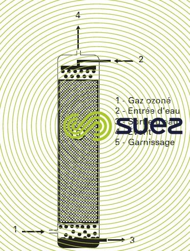 réacteurs d'ozonation colonne à garnissage