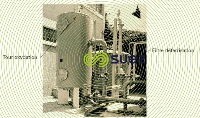 Tour oxydation filtre déferrisation eau potable