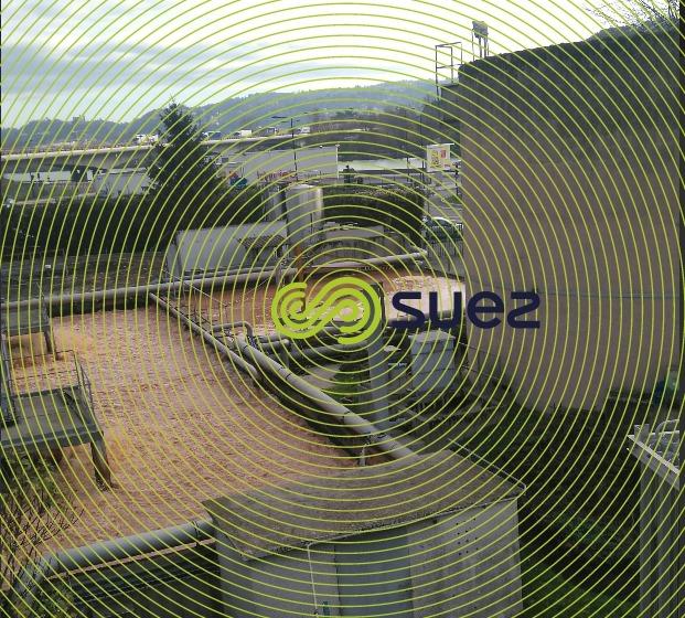 bassin tampon - bassins aeration - clarificateur - lits bactérien
