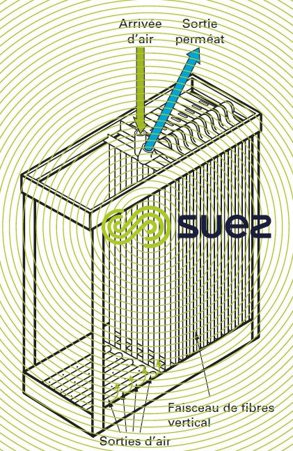 cassette fibres creuses peau externe - Exemple Zeeweed 500C