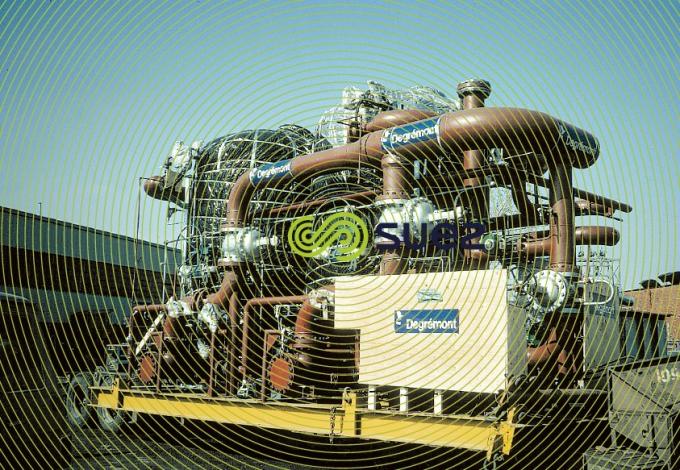 Centrale électrique Alberta -  Poste déminéralisation condensat skid carboxylique-sulfonique