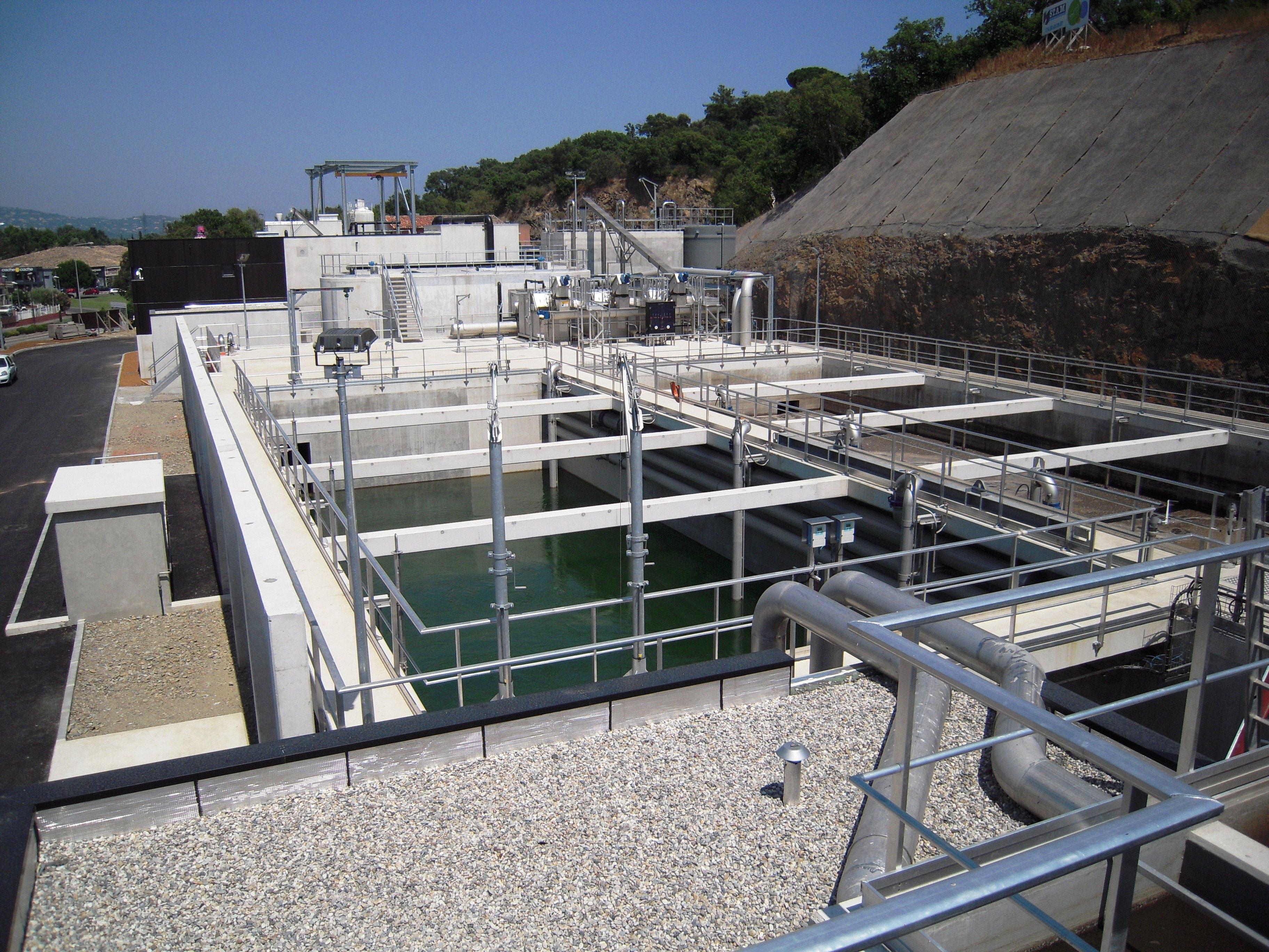 épuration biologique par membranes plaques d'ultrafiltration - Ultragreen station Cogolin